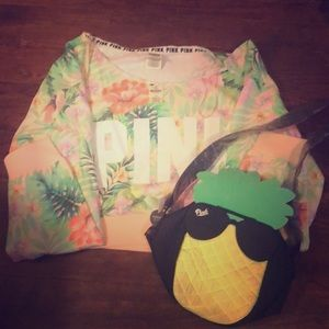 Pink Crop Shirt and Cooler for everything $18